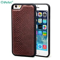 Luxury Python Leather Case, Mobile Phone Back Cover For iPhone 6