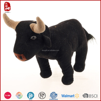 2015 purchase bulk black bull plush toys wholesale China