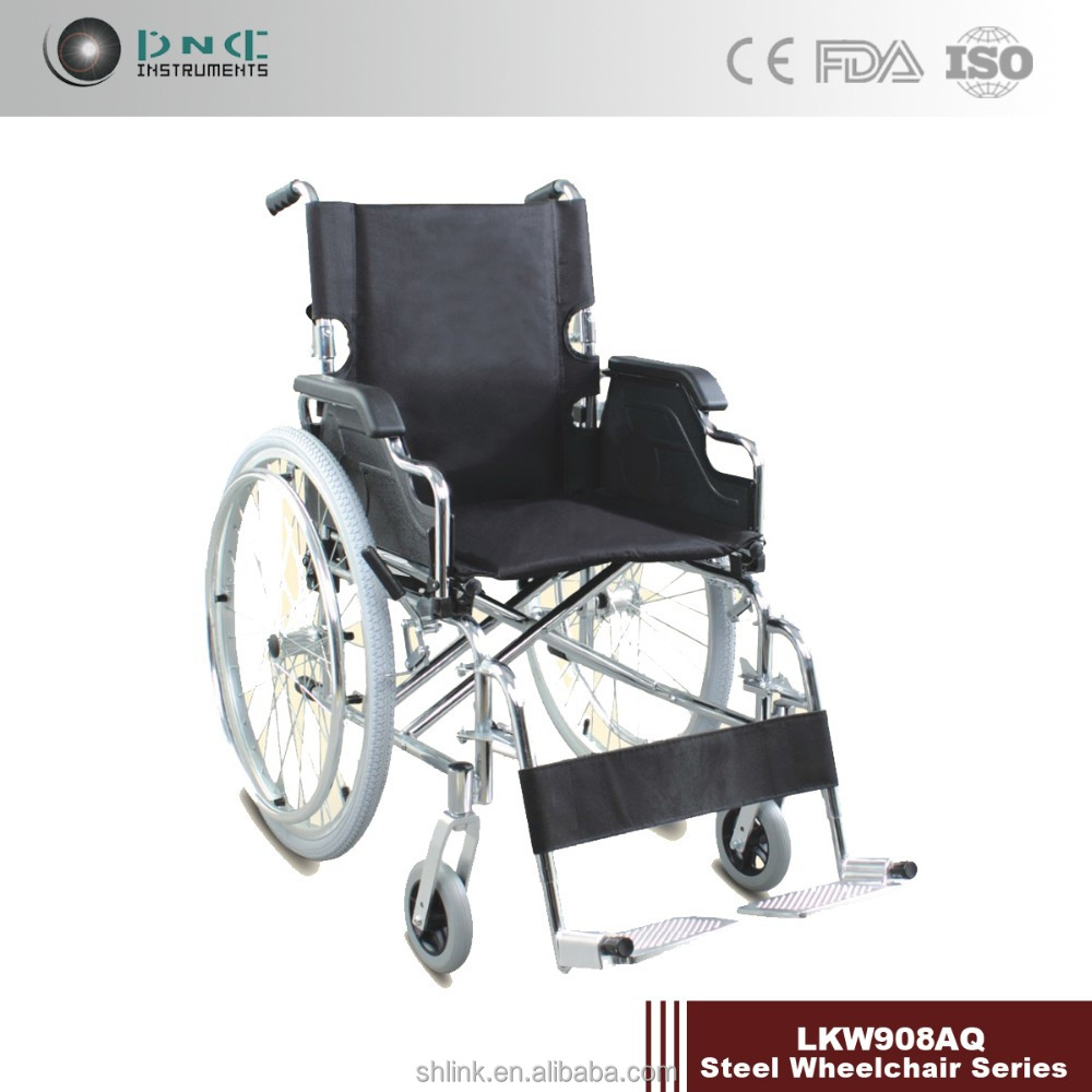 Steel handicapped wheelchair for patient