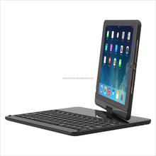 For iPad Pro 9.7 Inch iPad Air 2 Keyboard Case LED 7 Colors Backlit Bluetooth keyboard with Folio Hard Black