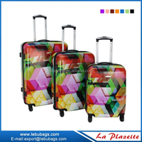 Cabin size airport luggage trolley case, promotional cheap luggage bags