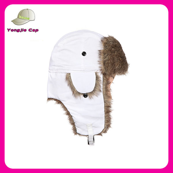 Warm Fashion Unisex Wholesale LeiFeng Style pilot Warm winter Faux Fur army winter trapper hat