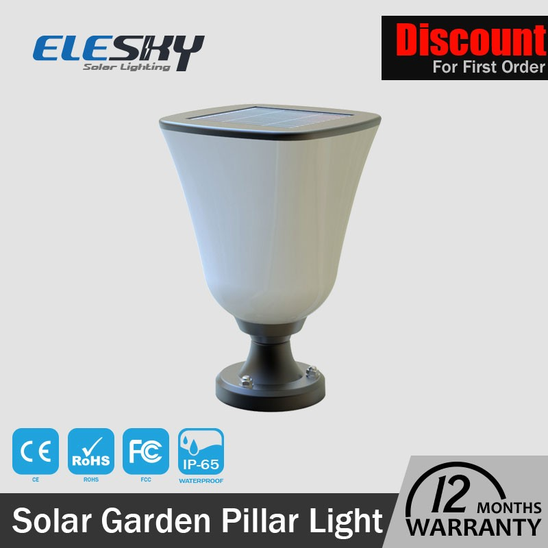 Wholesale 1 w antique garden decoration solar outdoor garden pillar light