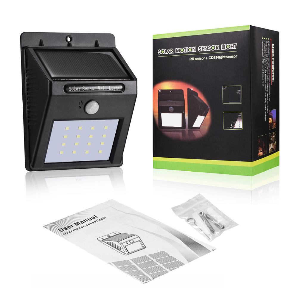 New design led solar home light outdoor lighting solar motion sensor light wall lamp with low price