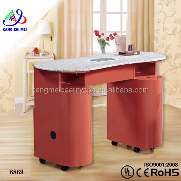 Nail manicure marble top table nail table with exhaust fan for Manicure table with exhaust fan