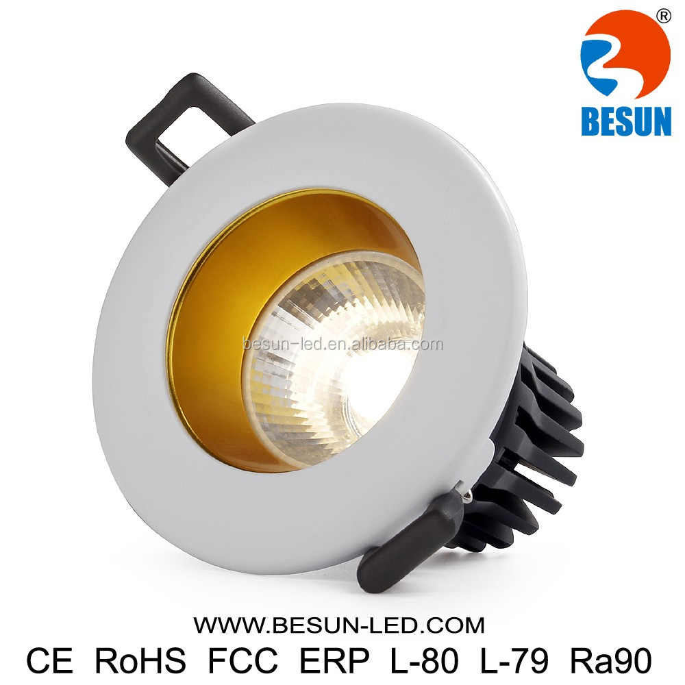 Lower UGR<19 cob led downlights anti-glare 8watt led downing light 700lm with no flickering driver