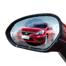 Amazon Hot Sale Factory Price 2 Pcs In 1 Car Rearview Mirror Waterproof Film 95*95mm Car Side Mirror Rainproof film