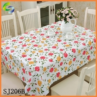 2015 New Style Printed PVC Tablecloth in China Supplier
