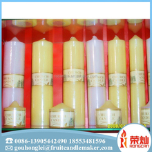 Chinese supplier wholesale decoration glitter color tearless scented square pillar candle