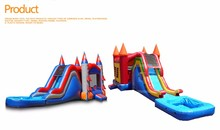 the largest inflatable bounce house with water slide