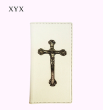 Discount activity! crucifix cross pattern leather flip case cover for htc desire 728, for htc desire 728 back cover case