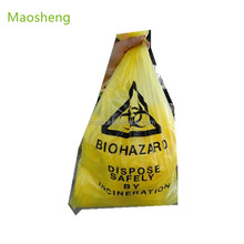Yellow infectious medical waste disposal medical waste bag