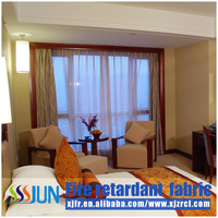 2015 latest design Fire retardant used blackout hotel curtains