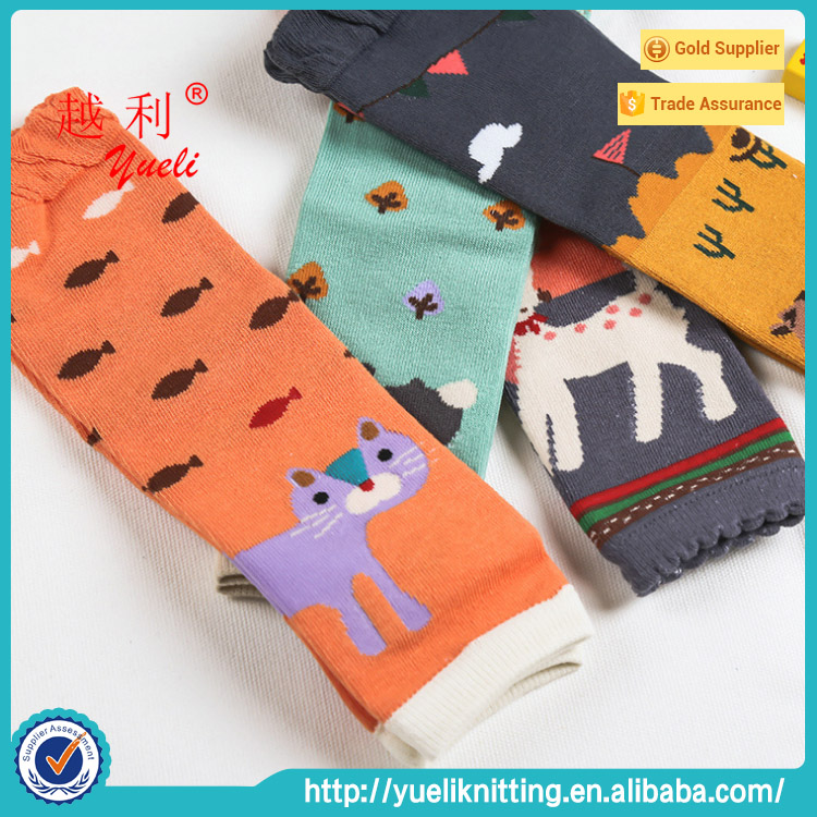 Wholesale custom baby tube toeless cute sofe cotton knitted socks