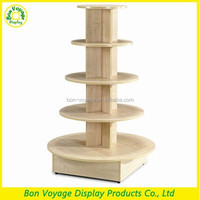 good advertising wood floor round children clothes display stand