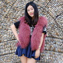 CX-G-B-191G High Quality Mongolian Sheep Fur Fashion Vest