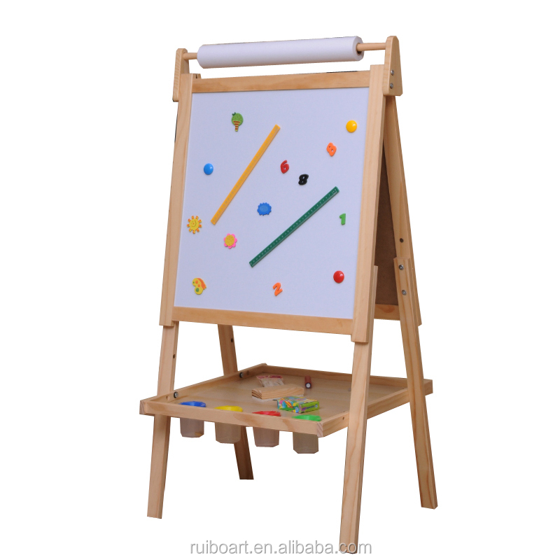 Educational wooden easel /children painting stand