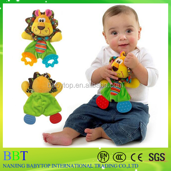 Sozzy New Infant Baby Teether Baby Care Animal Teething Handkerchief Teether Blanket Teething Toys Safe Material