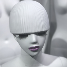 Abs resin, mushroom, purple lip, female Mannequin