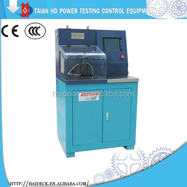 Common rail injector test bench and low maintenance cost