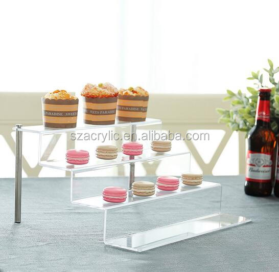 4 tier riser clear acrylic cupcake stand/rack