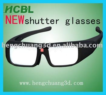 rechargable battery IR shutter active 3D glasses for 3D TV/3D cinema