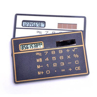 promotion gifts thiness 8 digits pocket card solar calculator