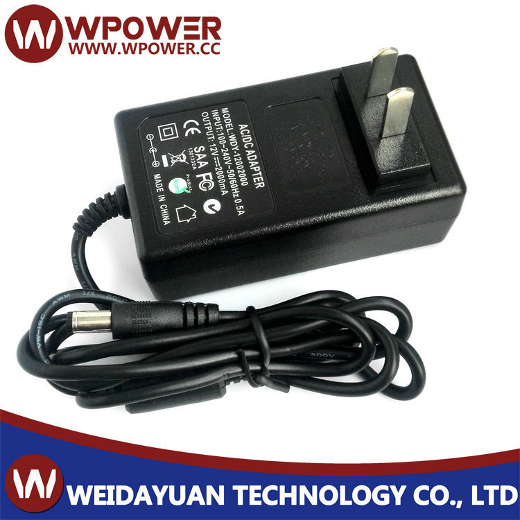 12V 2A 24W Plug In AC To DC Switching Mode Power Supply Adapter