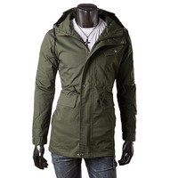 High quality new products popular in American and European cotton and polyester mixed mens windbreker jacket