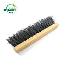 China best color customized wooden handle hard broom brush