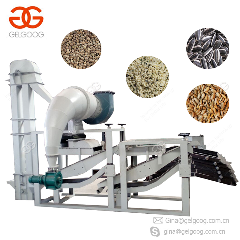 Fully Automatic Separating Machine Pumpkin Sunflower Seed Hulling Shelling Machine Hemp Seed Dehuller
