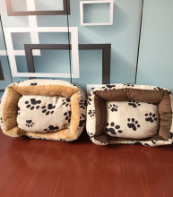 Soft square warm approved pet dog cushion, pet bed
