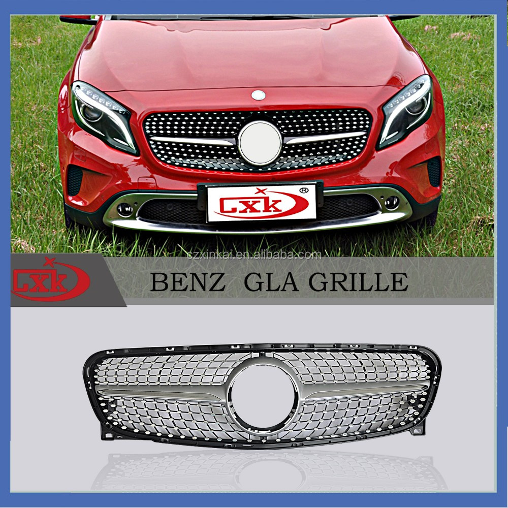 Auto parts with price list new product plastic GLA Star-style Grill Front Grille from china factory