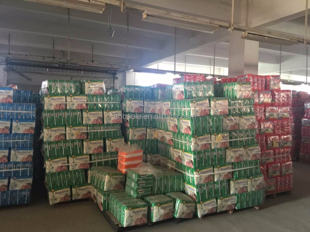 Wholesale High Quality Low Price of Stocklot A grade Baby Disposbale Diapers in China Factory