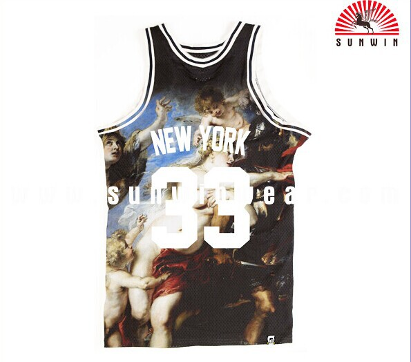 free sample custom new style basketball jersey