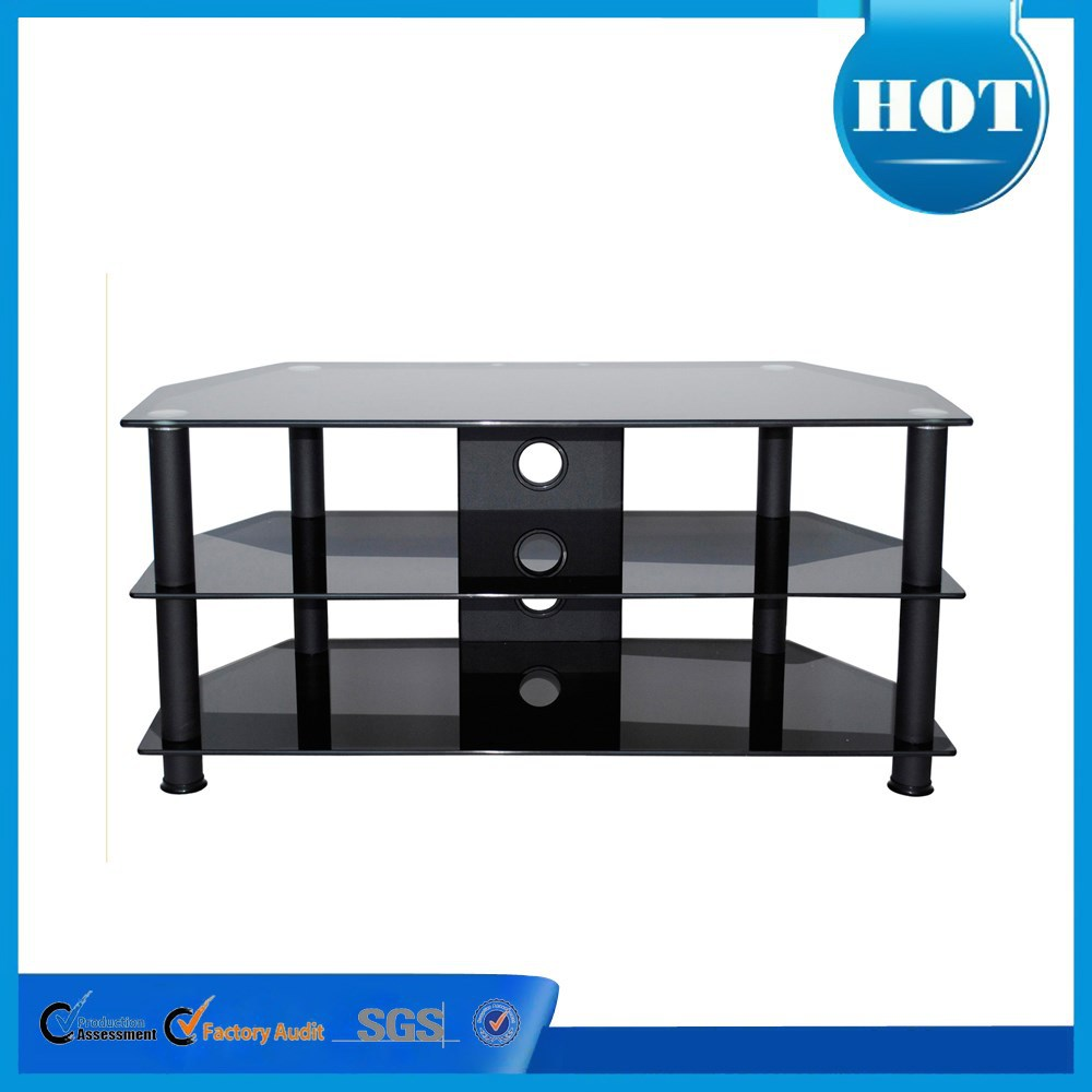 Elegant glass free 3d tv glass tv stand made in china RA030