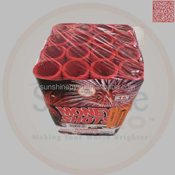 16 shots pyrotechnics cake fireworks stock supply fuegos artificiales