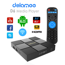 Factory direct sale Amlogic S905X QUAD core ott tv box D6 hybrid tv box