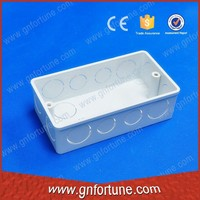 PVC Electrical 1+1 Gang 35mm Box Wall Switch Box