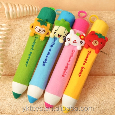 New design lovely bear cartoon animal plush pencil bag plush toys pencil case cheap pencil pouches