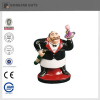 unique resin bistro chef figurine
