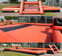 large inflatable Soap Soccer Field/inflatable Soccer pitch/inflatable water football field