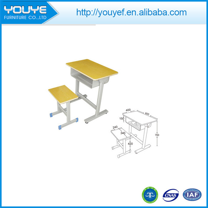 Multifunctional used school single desk and chair