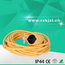 European standard IP44 Extension Cord power cable cord 16A / 220V / 250V pure copper conductor wire