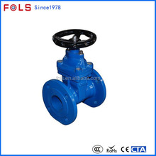 Manual Operated Rubber Seat Flanged Gate Valve Dimensions
