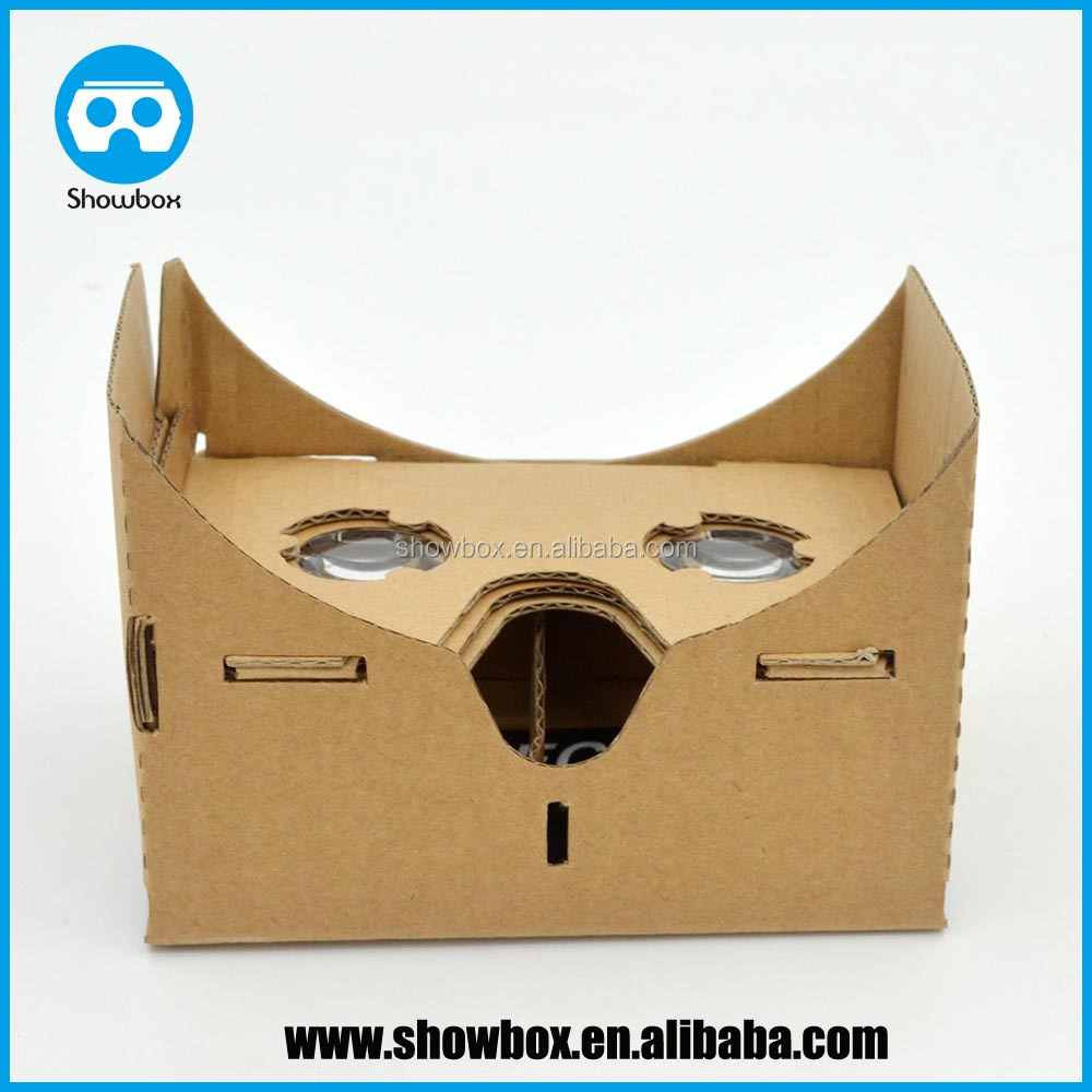 2015 wholesale custom logo print v1 google vr google cardboard v1 virtual reality cardboard 1.0 3d vr glasses 1.0