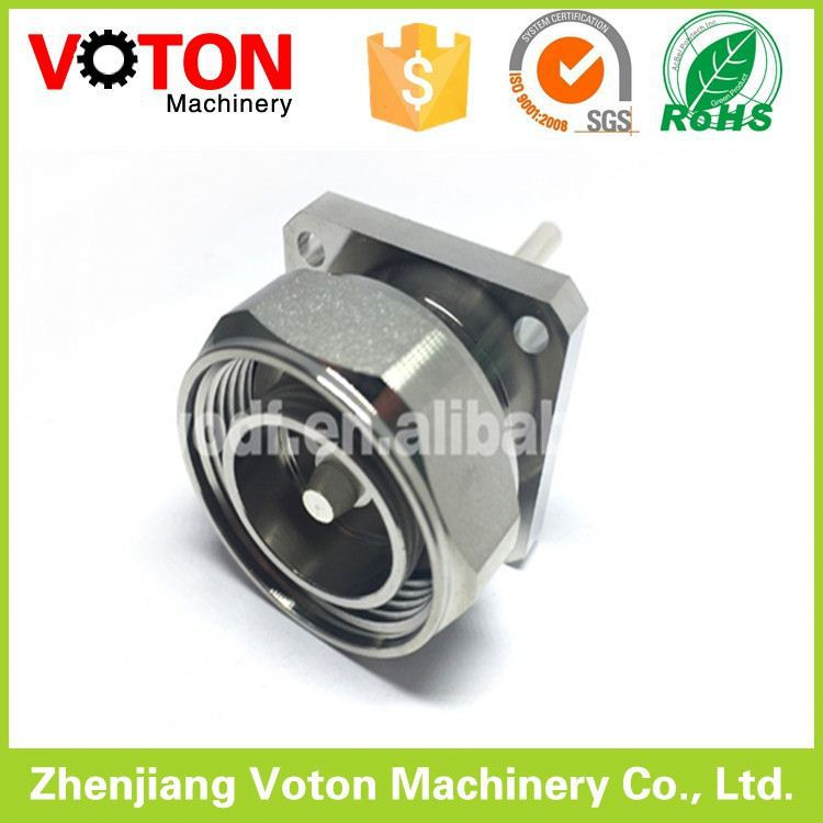 Din male 4 holes square flange panel conector 7/16 plug