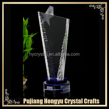 custom blank crystal glass plaque and award gift