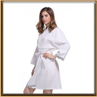 wholesale supply cotton plain waffle bath robe