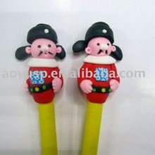 Polymer clay cute and nice chinese classic ball pen